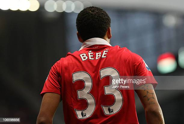 Bebe of Manchester United in action during the Barclays Premier League match between Manchester United and Wolverhampton Wanderers at Old Trafford on...