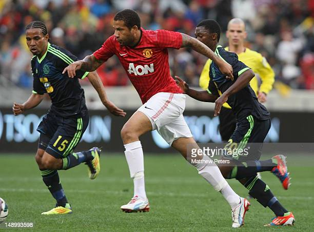 Bebe of Manchester United in action during the preseasno friendly match between Ajax Cape Town and Manchester United on July 21 2012 in Cape Town...