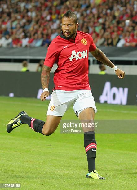Bebe of Manchester United in action during the preseason friendly match between AIK Fotboll and Manchester United at Friends Arena on August 6 2013...
