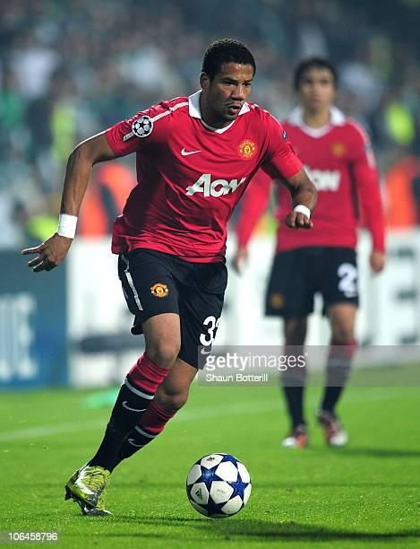 Bebe of Manchester United in action during the UEFA Champions League Group C match between Bursapor Kulubu and Manchester United at the Bursa Ataturk...