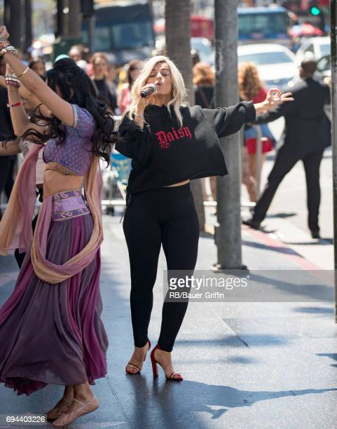 Bebe Rexha is seen at 'Jimmy Kimmel Live' on June 09 2017 in Los Angeles California