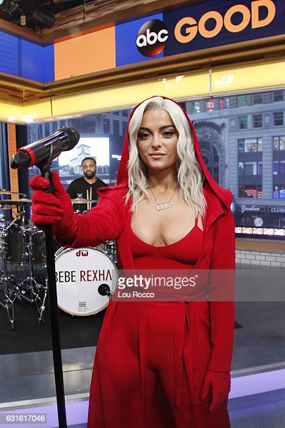 AMERICA Bebe Rexha performs live on 'Good Morning America' 1/13/17 airing on the ABC Television Network BEBE