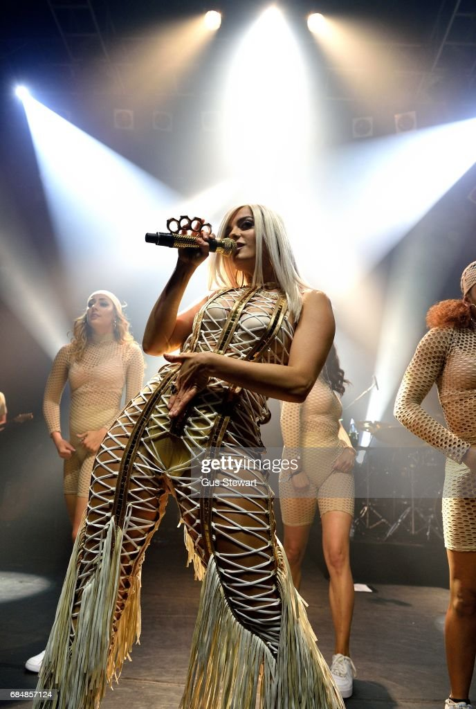 Bebe Rexha performs on stage at KOKO on May 18, 2017 in London, England.
