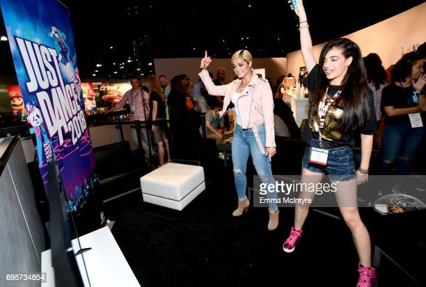 Bebe Rexha plays Just Dance 2018 live with fans at Los Angeles Convention Center on June 13 2017 in Los Angeles California