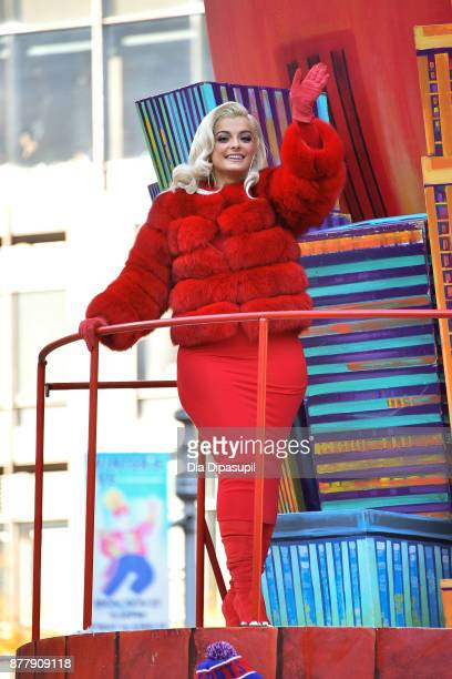 Bebe Rexha rides in the 91st Annual Macy's Thanksgiving Day Parade on November 23 2017 in New York City