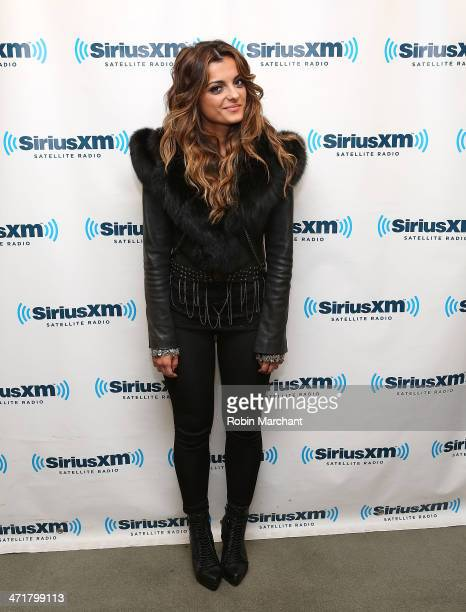 Bebe Rexha visits at SiriusXM Studios on February 21 2014 in New York City