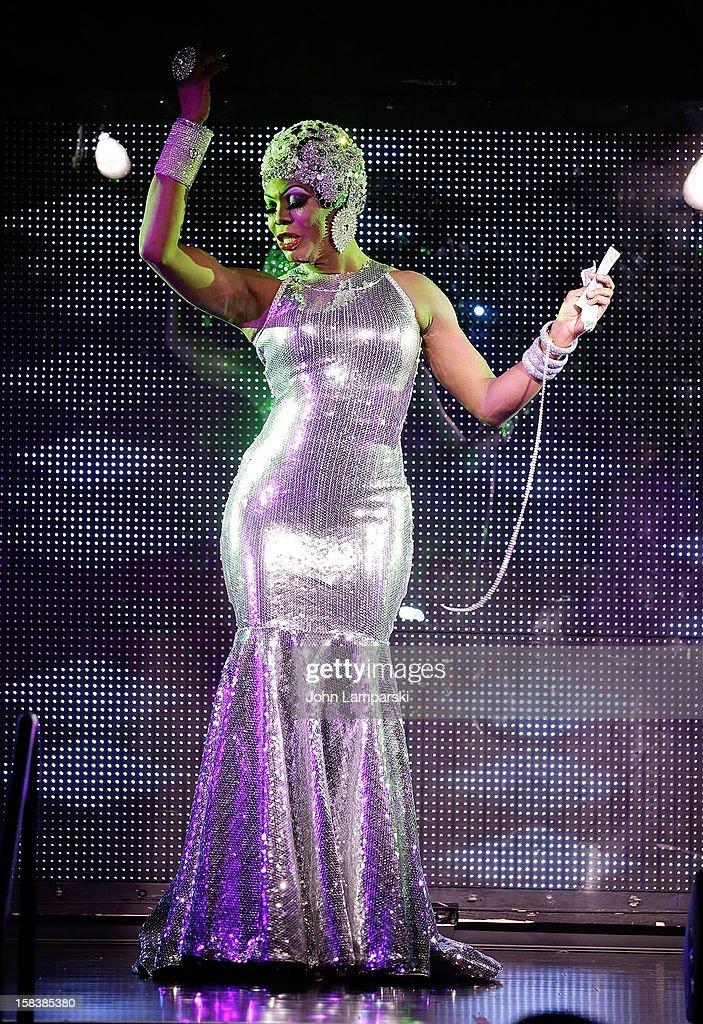 Bebe Sahara Benet performs at Sahara Davenport Public Memorial Serviceat at the XL Nightclub on December 14, 2012 in New York City.