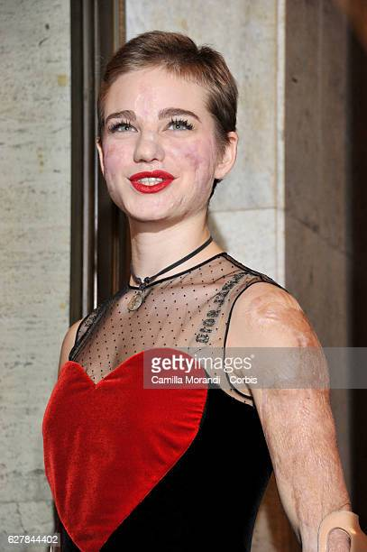 Bebe Vio attends Burton's 'Miss Peregrine's Home for Peculiar Children' Premiere In Rome on December 5 2016 in Rome Italy