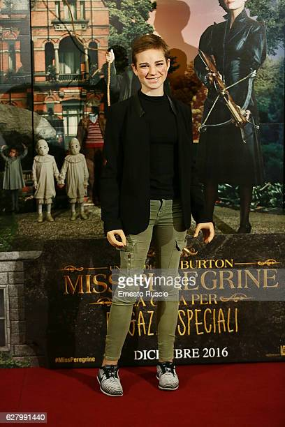Bebe Vio attends 'Miss Peregrine's Home for Peculiar Children' photocall at Hotel St Regis on December 6 2016 in Rome Italy
