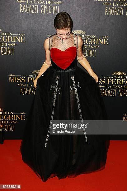 Bebe Vio walks the red carpet for Tim Burton's 'Miss Peregrine's Home for Peculiar Children' on December 5 2016 in Rome Italy