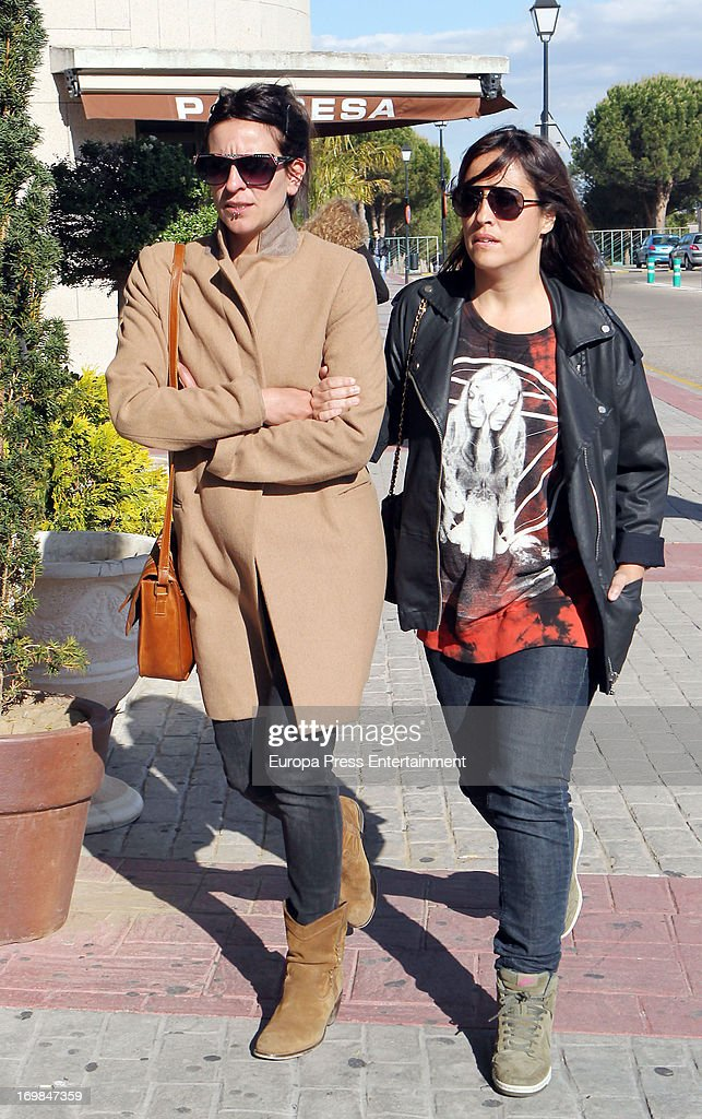 Bebe (L) visits the chapel of rest for Mario Biondo at Tanatorio Parcesa on May 31, 2013 in Madrid, Spain. Spanish television presenter Raquel Sanchez Silva found her 36 year-old-husband, Italian cameraman Mario Biondo, dead at their home after returning from work on May 30.