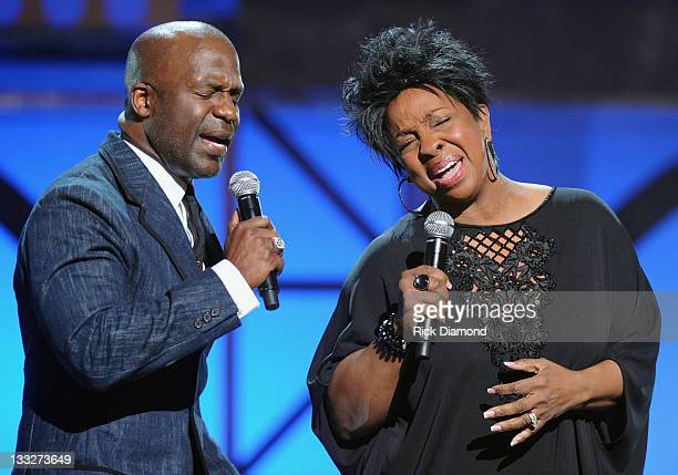 BeBe Winans joins Gladys Knight and performs during the 2011 Soul Train Awards at The Fox Theatre on November 17 2011 in Atlanta Georgia