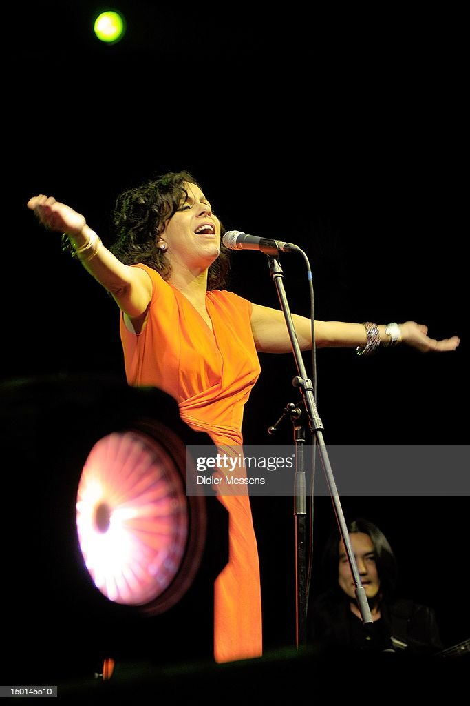Bebel Gilberto performs on stage during Sziget Festival on August 10, 2012 in Budapest, Hungary.