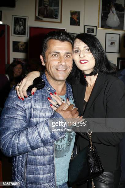 Bebert and Sylvie Ortega Munos attend Photographer Olivier Palade Exhibition at La Chope des Puces on June 7 2017 in SaintOuen France