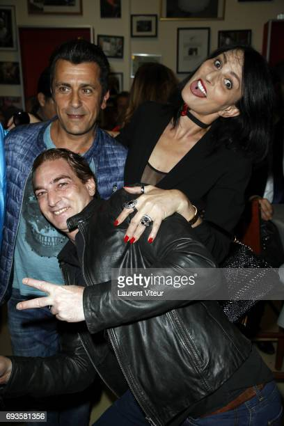 Bebert Ludovic Chancel and Sylvie Ortega Munos attend Photographer Olivier Palade Exhibition at La Chope des Puces on June 7 2017 in SaintOuen France