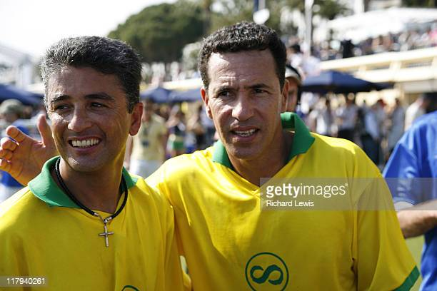 Bebeto and Careca during 2006 Cannes Film Festival Brasilian World Cup Winners Photocall at Cannes in Cannes France