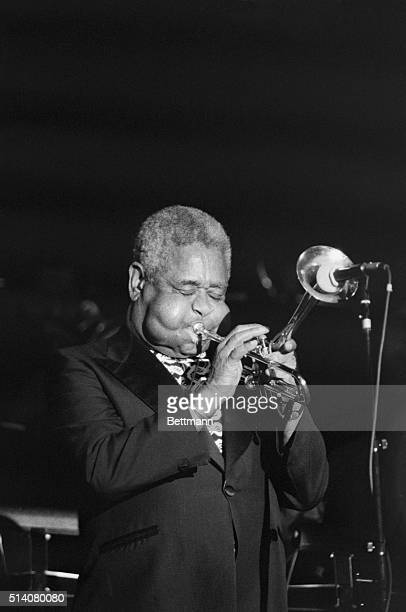 Bebop trumpeter Dizzy Gillespie plays in Carnegie Hall for the 1988 Mostly Monk festival dedicated to Thelonious Monk