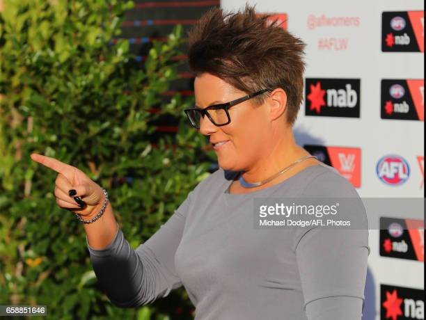 Bec Goddard Senior Coach of the Crows arrives during the The W Awards at the Peninsula on March 28 2017 in Melbourne Australia