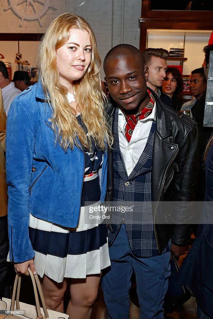 Beca Alexander and Ludget Delcy attend Tommy Hilfiger celebrates redesigned Soho store with event for Fresh Air Fund on May 1, 2013 in New York City.