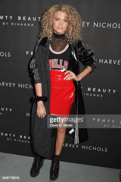 Becca Dudley attends the Fenty Beauty x Harvey Nichols launch at Harvey Nichols on September 19 2017 in London England