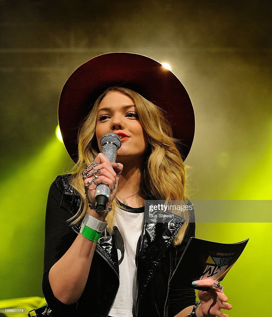 Becca Dudley attends the MTV Brand New series at The Forum on January 22, 2013 in London, England.