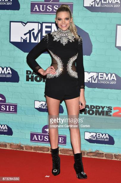 Becca Dudley attends the MTV EMAs 2017 at The SSE Arena Wembley on November 12 2017 in London England