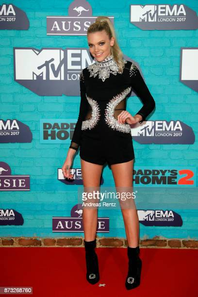 Becca Dudley attends the MTV EMAs 2017 held at The SSE Arena Wembley on November 12 2017 in London England