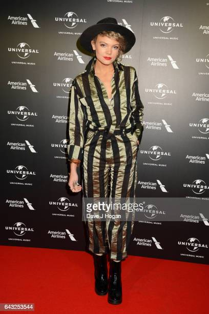 Becca Dudley attends the Universal Music preBRIT Award party at One Embankment on February 20 2017 in London England