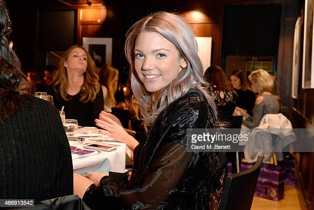 Becca Dudley attends the VIP Spring Dinner hosted by Urban Decay to celebrate the launch of their Spring make up collections at The Groucho Club on...