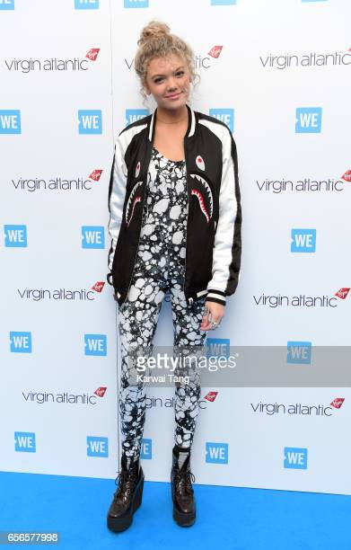 Becca Dudley attends WE Day UK at The SSE Arena on March 22 2017 in London United Kingdom