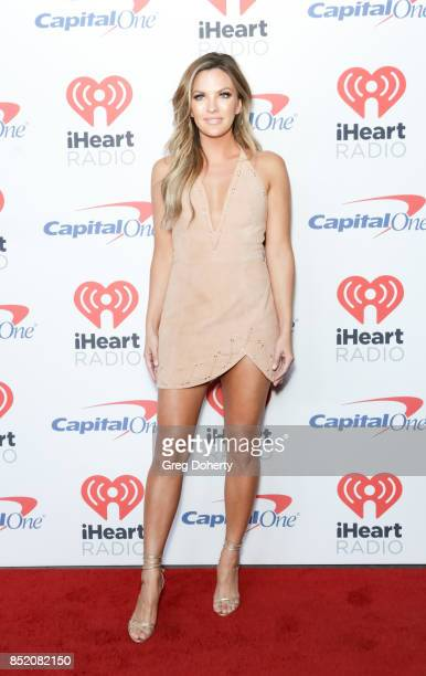 Becca Tilley arrives at the 2017 iHeartRadio Music Festival at TMobile Arena on September 22 2017 in Las Vegas Nevada