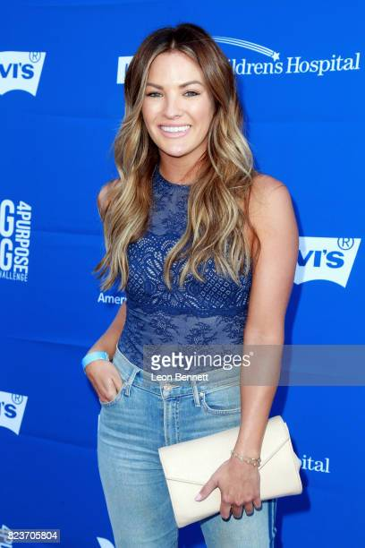 Becca Tilley at Clayton Kershaw's 5th Annual Ping Pong 4 Purpose Celebrity Tournament at Dodger Stadium on July 27 2017 in Los Angeles California