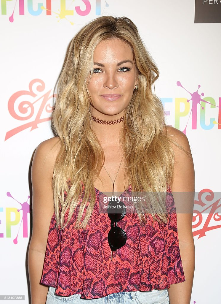 Becca Tilley attends EpicFest 2016 hosted by L.A. Reid and Epic Records at Sony Studios on June 25, 2016 in Los Angeles, California. at Sony Pictures Studios on June 25, 2016 in Culver City, California.