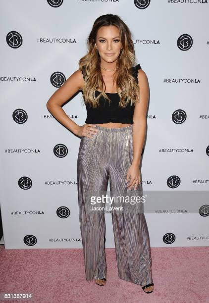 Becca Tilley attends the 5th annual Beautycon festival at Los Angeles Convention Center on August 13 2017 in Los Angeles California