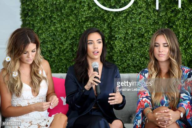 Becca Tilley Elena Hansen and Gina Ybarra speak onstage during SIMPLY Los Angeles Fashion Beauty Conference Powered By NYLON at The Grove on July 15...