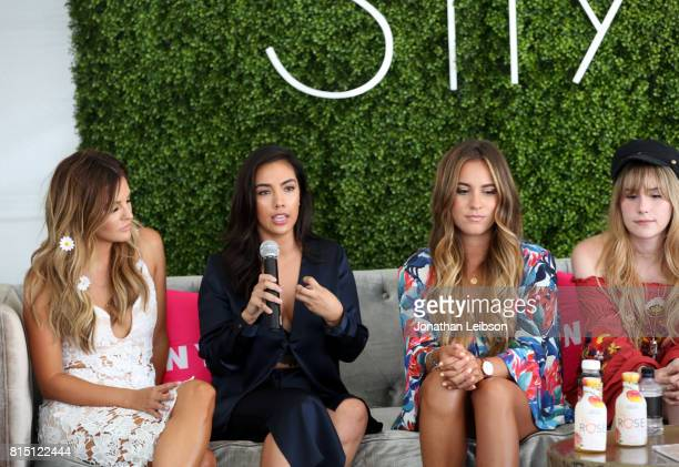 Becca Tilley Elena Hansen Gina Ybarra and Lana speak onstage during SIMPLY Los Angeles Fashion Beauty Conference Powered By NYLON at The Grove on...