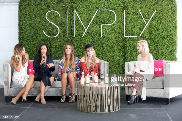 Becca Tilley Elena Hansen Gina Ybarra Lana and Global EditorinChief at NYLON Gabrielle Korn speak onstage during SIMPLY Los Angeles Fashion Beauty...