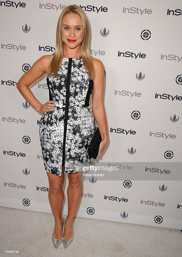 Becca Tobin arrives at the 12th Annual InStyle Summer Soiree at Mondrian Los Angeles on August 14, 2013 in West Hollywood, California.