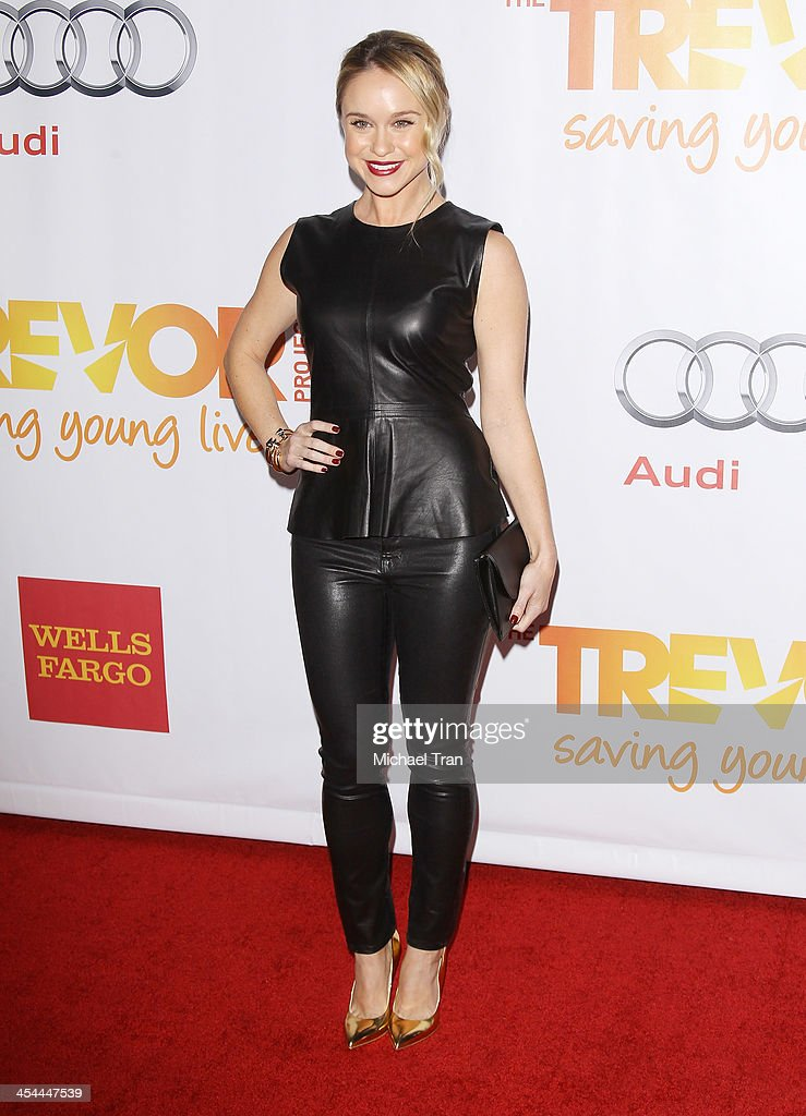 <a gi-track='captionPersonalityLinkClicked' href=/galleries/search?phrase=Becca+Tobin&family=editorial&specificpeople=5391184 ng-click='$event.stopPropagation()'>Becca Tobin</a> arrives at the 15th Annual Trevor Project Benefit held at Hollywood Palladium on December 8, 2013 in Hollywood, California.