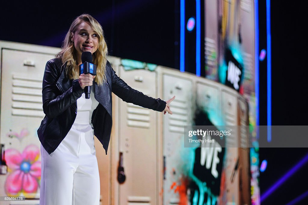 Becca Tobin attends at WeDay in Illinois at Allstate Arena on April 28, 2016 in Chicago, Illinois.
