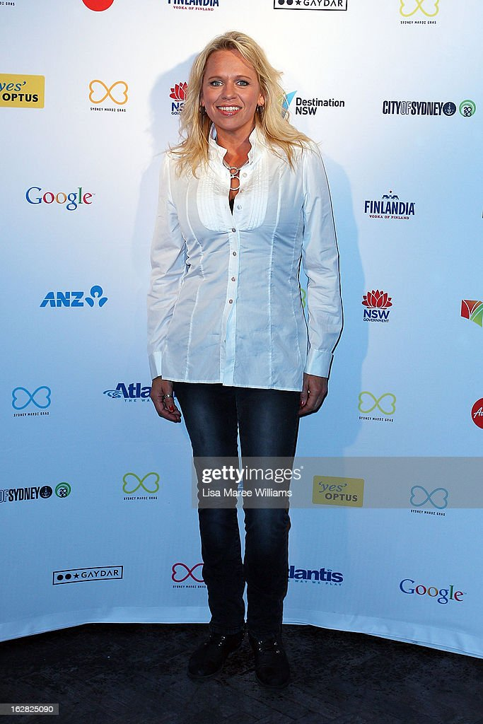 Beccy Cole poses during a Sydney Mardis Gras VIP photo call at the Kit and Kaboodle Bar on February 28, 2013 in Sydney, Australia.