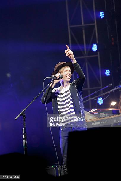 Beck performs at Boston City Hall Plaza on May 22 2015 in Boston Massachusetts