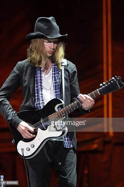 Beck performs at SuperBock SuperRock 2nd Act in Parque Tejo on July 10 2008 in Lisbon Portugal
