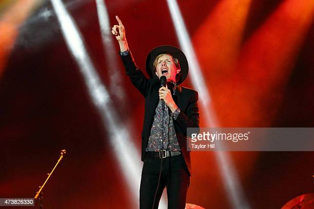 Beck performs during Hangout Music Festival 2015 on May 17 2015 in Gulf Shores Alabama
