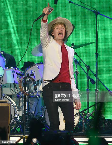 Beck performs onstage at 1067 KROQ Almost Acoustic Christmas 2016 Night 2 at The Forum on December 11 2016 in Inglewood California