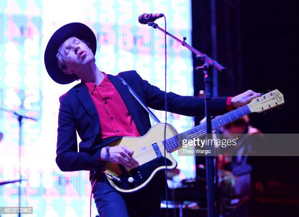 Beck performs onstage during day 3 of the Firefly Music Festival on June 21 2014 in Dover Delaware