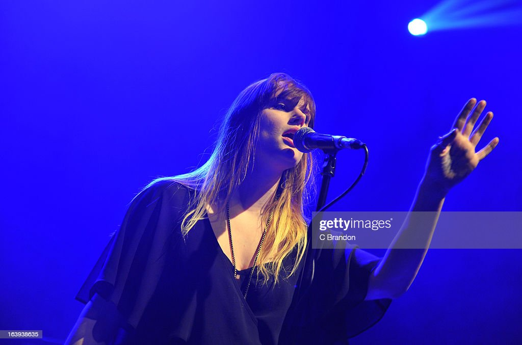Beck Wood of Coves performs on stage at O2 Shepherd's Bush Empire on March 17, 2013 in London, England.