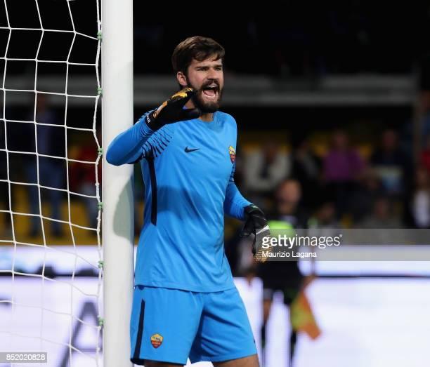 Becker Alisson of Roma during the Serie A match between Benevento Calcio and AS Roma at Stadio Ciro Vigorito on September 20 2017 in Benevento Italy