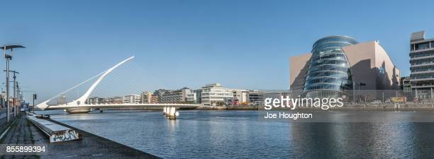 Beckett Bridge and the Dublin Convention Centre panorama