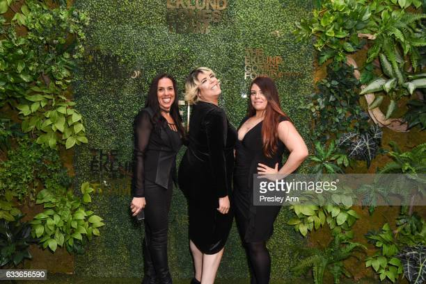 Beckey Prata Michelle A Diaz and Denise Diaz attend Eklund|Gomes 10 Year Anniversary Bash at The Garage in NYC on February 2 2017 in New York City